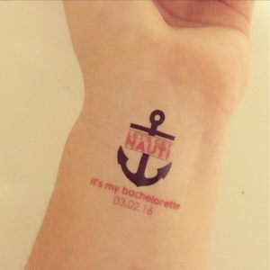 Nauti Nautical Temporary Tattoo Bachelorettes
